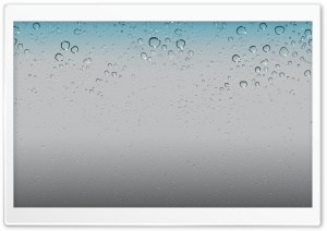 IOS 5 Wallpaper - Water Drops HD Wide Wallpaper for Widescreen