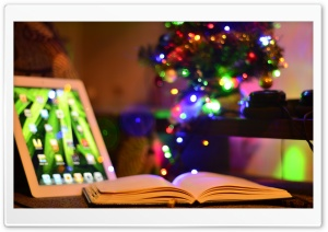 iPad And Book HD Wide Wallpaper for Widescreen