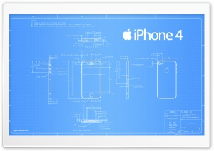 iPhone 4 Blueprint HD Wide Wallpaper for Widescreen