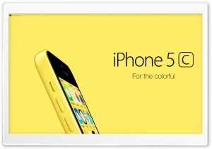 iPhone 5C Yellow For Colorful Ultra HD Wallpaper for 4K UHD Widescreen desktop, tablet & smartphone