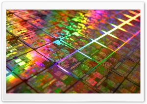 Iridescent Microchips HD Wide Wallpaper for Widescreen