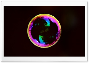 Iridescent Soap Bubble HD Wide Wallpaper for Widescreen
