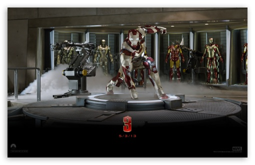Iron Man 3 - Suit Up HD wallpaper for Wide 16:10 5:3 Widescreen WHXGA WQXGA WUXGA WXGA WGA ; HD 16:9 High Definition WQHD QWXGA 1080p 900p 720p QHD nHD ; Mobile 5:3 16:9 - WGA WQHD QWXGA 1080p 900p 720p QHD nHD ;