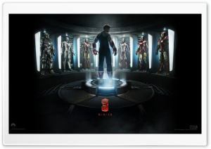 Iron Man 3 - The Generation of Suits HD Wide Wallpaper for Widescreen