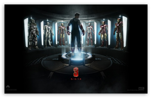 Iron Man 3 - The Generation of Suits HD wallpaper for Wide 16:10 5:3 Widescreen WHXGA WQXGA WUXGA WXGA WGA ; HD 16:9 High Definition WQHD QWXGA 1080p 900p 720p QHD nHD ; Mobile 5:3 16:9 - WGA WQHD QWXGA 1080p 900p 720p QHD nHD ;