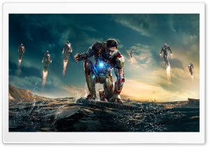 Iron Man 3 Iron Man vs Mandarin HD Wide Wallpaper for 4K UHD Widescreen desktop & smartphone