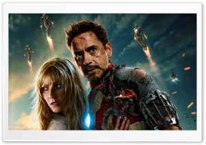 Iron Man 3 Tony Stark And Pepper Potts HD Wide Wallpaper for 4K UHD Widescreen desktop & smartphone