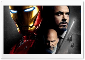 Iron Man and Obadiah Stane HD Wide Wallpaper for Widescreen