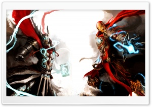 Iron Man and Thor HD Wide Wallpaper for Widescreen