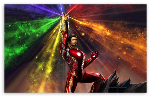 Iron Man Infinity Gauntlet 4K HD Desktop Wallpaper For 4K