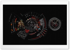 Iron Man Suit Diagnostic Ultra HD Wallpaper for 4K UHD Widescreen desktop, tablet & smartphone
