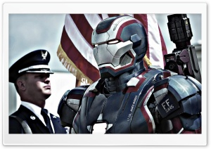 Iron Patriot In Iron Man 3 HD Wide Wallpaper for 4K UHD Widescreen desktop & smartphone