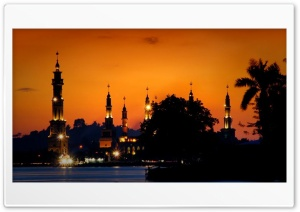Islamic Centre of Samarinda HD Wide Wallpaper for Widescreen