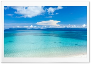 Island Beach Panoramic View Ultra HD Wallpaper for 4K UHD Widescreen desktop, tablet & smartphone