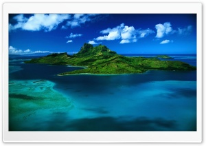 Island Top View HD Wide Wallpaper for Widescreen