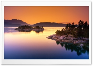 Islands At Dusk HD Wide Wallpaper for Widescreen