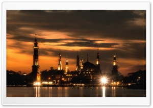 Islanic Center of Samarinda HD Wide Wallpaper for Widescreen