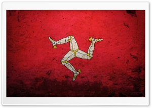 Isle Of Man Flag HD Wide Wallpaper for Widescreen
