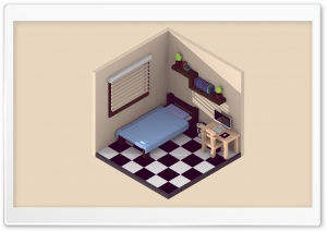 Isometric Room HD Wide Wallpaper for Widescreen