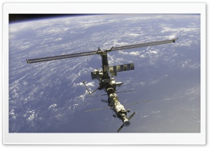 Iss Above Earth HD Wide Wallpaper for 4K UHD Widescreen desktop & smartphone