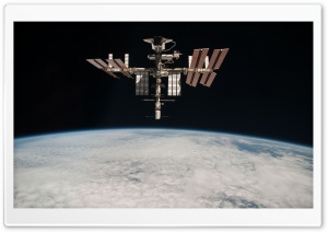 ISS On Orbit HD Wide Wallpaper for Widescreen
