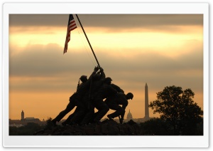 Iwo Jima Memorial HD Wide Wallpaper for 4K UHD Widescreen desktop & smartphone