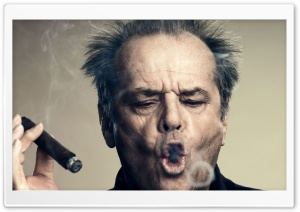 Jack Nicholson Smoking HD Wide Wallpaper for Widescreen