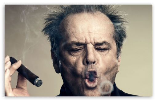 Jack Nicholson Smoking HD wallpaper for Wide 16:10 5:3 Widescreen WHXGA WQXGA WUXGA WXGA WGA ; Standard 3:2 Fullscreen DVGA HVGA HQVGA devices ( Apple PowerBook G4 iPhone 4 3G 3GS iPod Touch ) ; Mobile 5:3 3:2 - WGA DVGA HVGA HQVGA devices ( Apple PowerBook G4 iPhone 4 3G 3GS iPod Touch ) ;