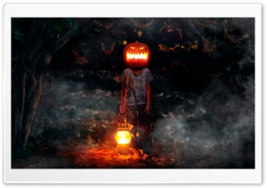 Jack-o-lantern Awaked HD Wide Wallpaper for Widescreen