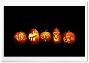 Jack O Lanterns Ultra HD Wallpaper for 4K UHD Widescreen desktop, tablet & smartphone