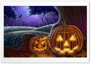 Jack O The Lanterns HD Wide Wallpaper for Widescreen