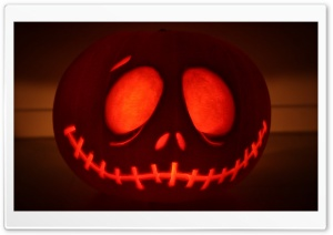 Jack Skellington Pumpkin HD Wide Wallpaper for Widescreen