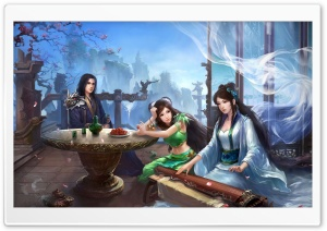 Jade Dynasty Artwork HD Wide Wallpaper for Widescreen