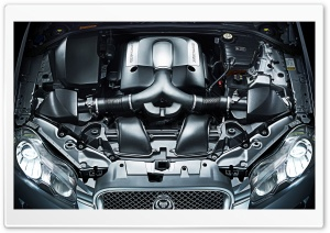 Jaguar Supercharged Engine HD Wide Wallpaper for Widescreen