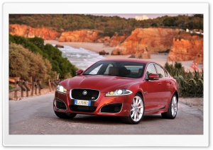 Jaguar XFR Red HD Wide Wallpaper for Widescreen