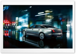 Jaguar XJ Gray HD Wide Wallpaper for Widescreen