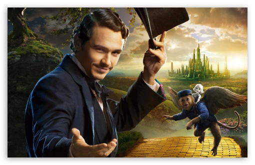 James Franco as Oscar Diggs - Oz the Great and Powerful 2013 Movie HD wallpaper for Wide 16:10 5:3 Widescreen WHXGA WQXGA WUXGA WXGA WGA ; HD 16:9 High Definition WQHD QWXGA 1080p 900p 720p QHD nHD ; Standard 4:3 5:4 3:2 Fullscreen UXGA XGA SVGA QSXGA SXGA DVGA HVGA HQVGA devices ( Apple PowerBook G4 iPhone 4 3G 3GS iPod Touch ) ; Tablet 1:1 ; iPad 1/2/Mini ; Mobile 4:3 5:3 3:2 16:9 5:4 - UXGA XGA SVGA WGA DVGA HVGA HQVGA devices ( Apple PowerBook G4 iPhone 4 3G 3GS iPod Touch ) WQHD QWXGA 1080p 900p 720p QHD nHD QSXGA SXGA ;