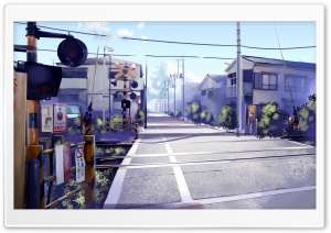 Japan Railroad Crossing HD Wide Wallpaper for Widescreen