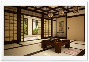 Japan Room 2 HD Wide Wallpaper for Widescreen