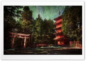 Japan Wood House HD Wide Wallpaper for Widescreen