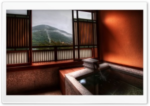 Japanese Bathroom HD Wide Wallpaper for Widescreen