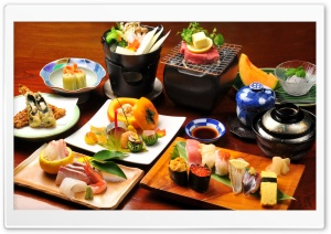 Japanese Dishes HD Wide Wallpaper for Widescreen