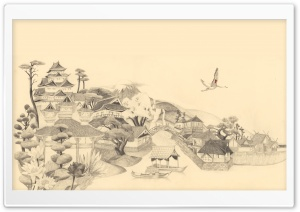 Japanese Drawing HD Wide Wallpaper for Widescreen