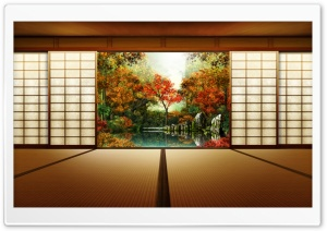 Japanese Garden HD Wide Wallpaper for Widescreen