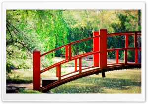 Japanese Garden Bridge HD Wide Wallpaper for Widescreen