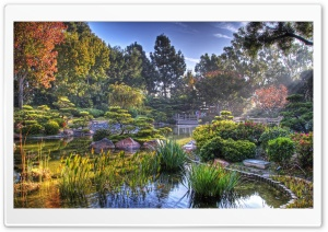 Japanese Garden HDR HD Wide Wallpaper for Widescreen