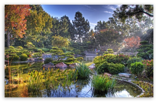 Download Japanese Garden HDR HD Wallpaper