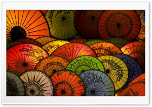Japanese Umbrellas HD Wide Wallpaper for Widescreen