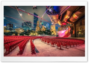Jay Pritzker Pavilion HD Wide Wallpaper for 4K UHD Widescreen desktop & smartphone