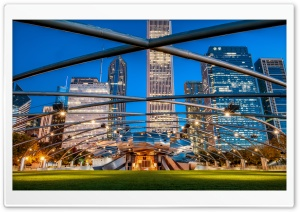 Jay Pritzker Pavilion, Chicago HD Wide Wallpaper for Widescreen